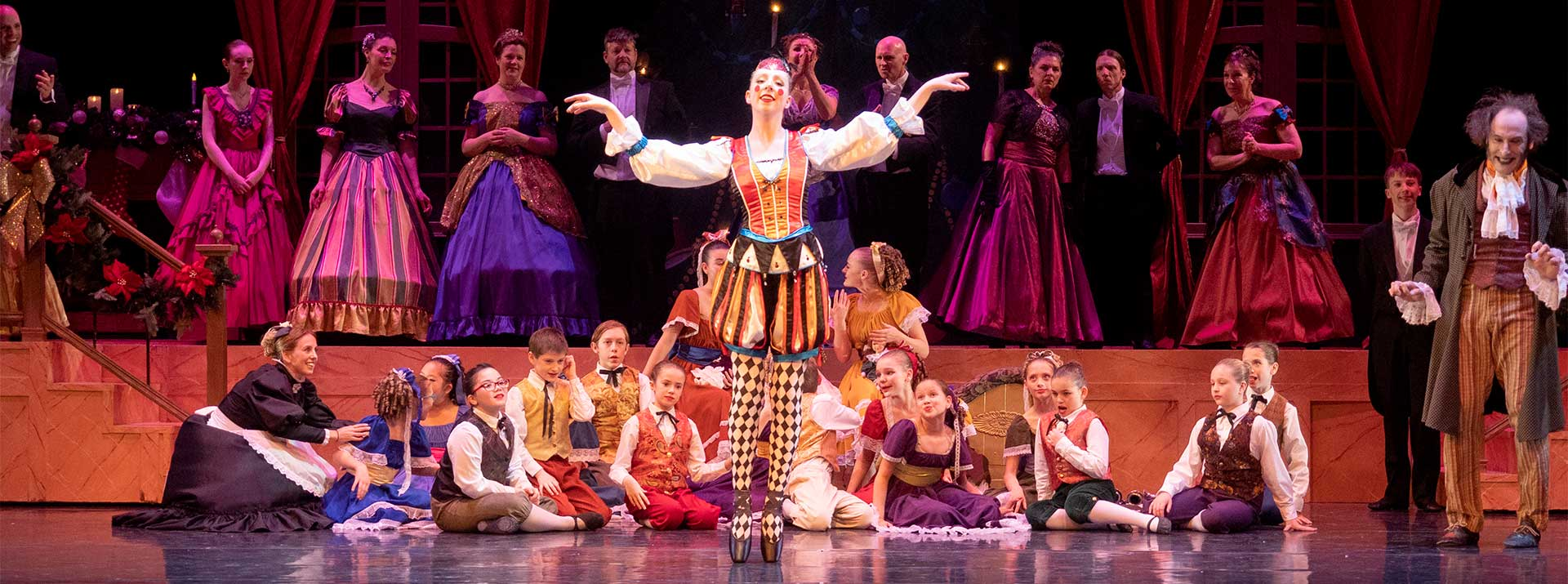 The Nutcracker from Garden city Ballet - dancers on stage