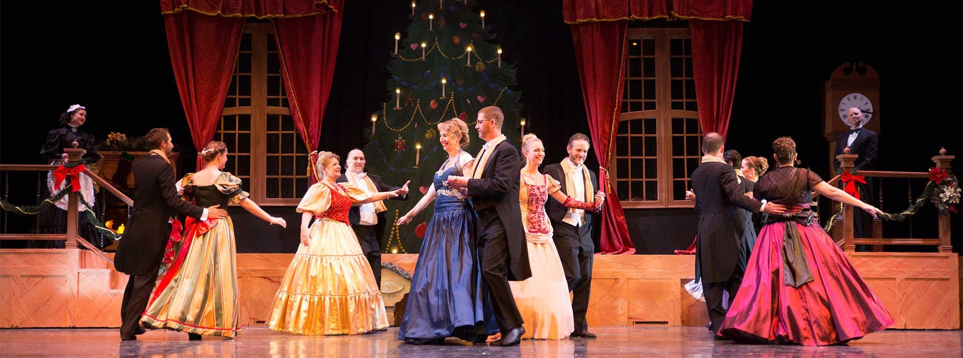 Volunteer with the Garden City Ballet - The Nutcracker - volunteers dancing on stage