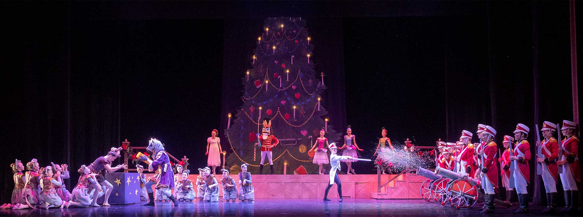 Ticket Information for The Nutcracker by Garden city Ballet - dancers on stage