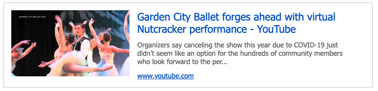 Garden City Ballety preview of KPAX story link to video.